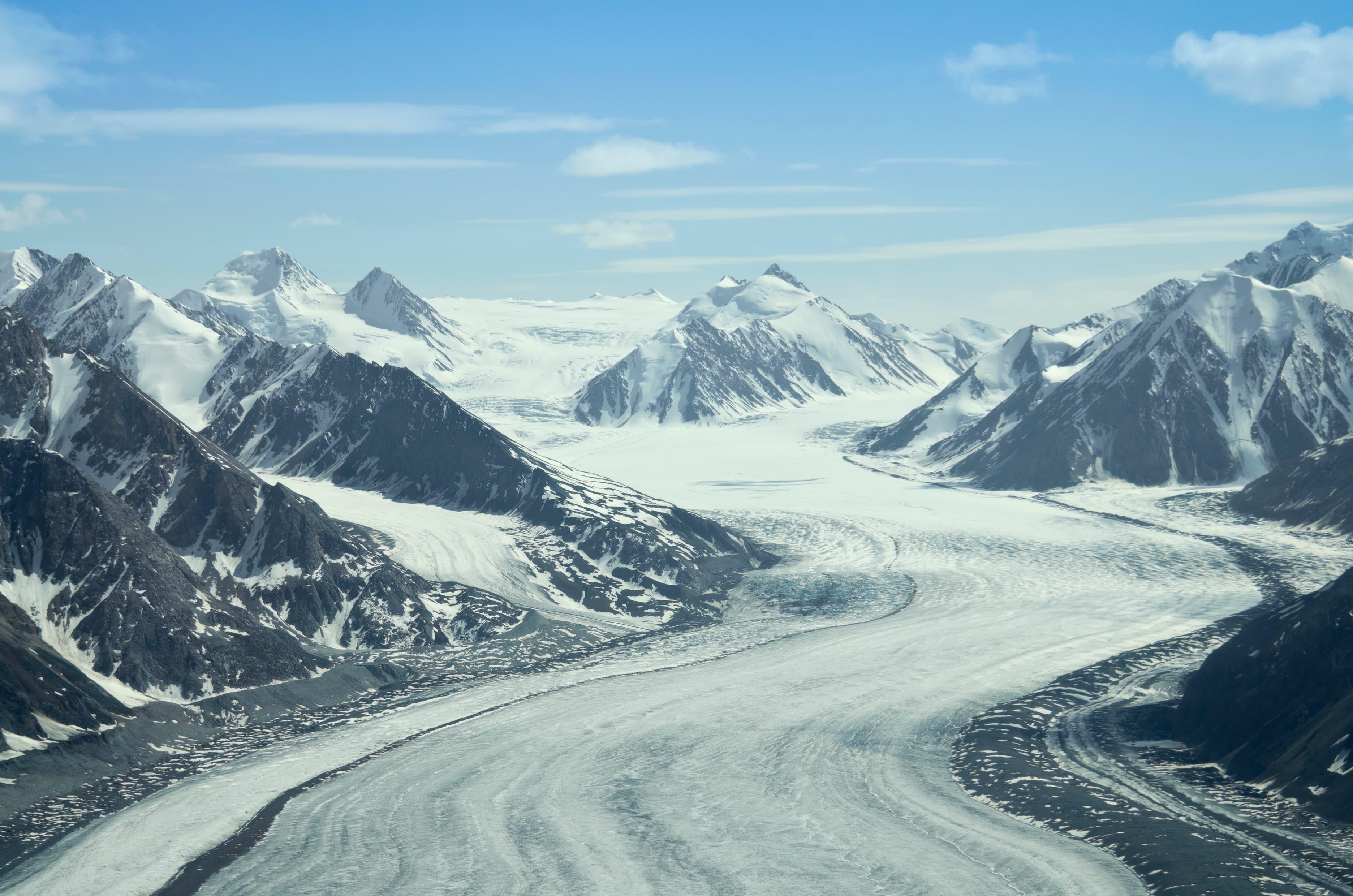 glaciers in the St. Elias range
