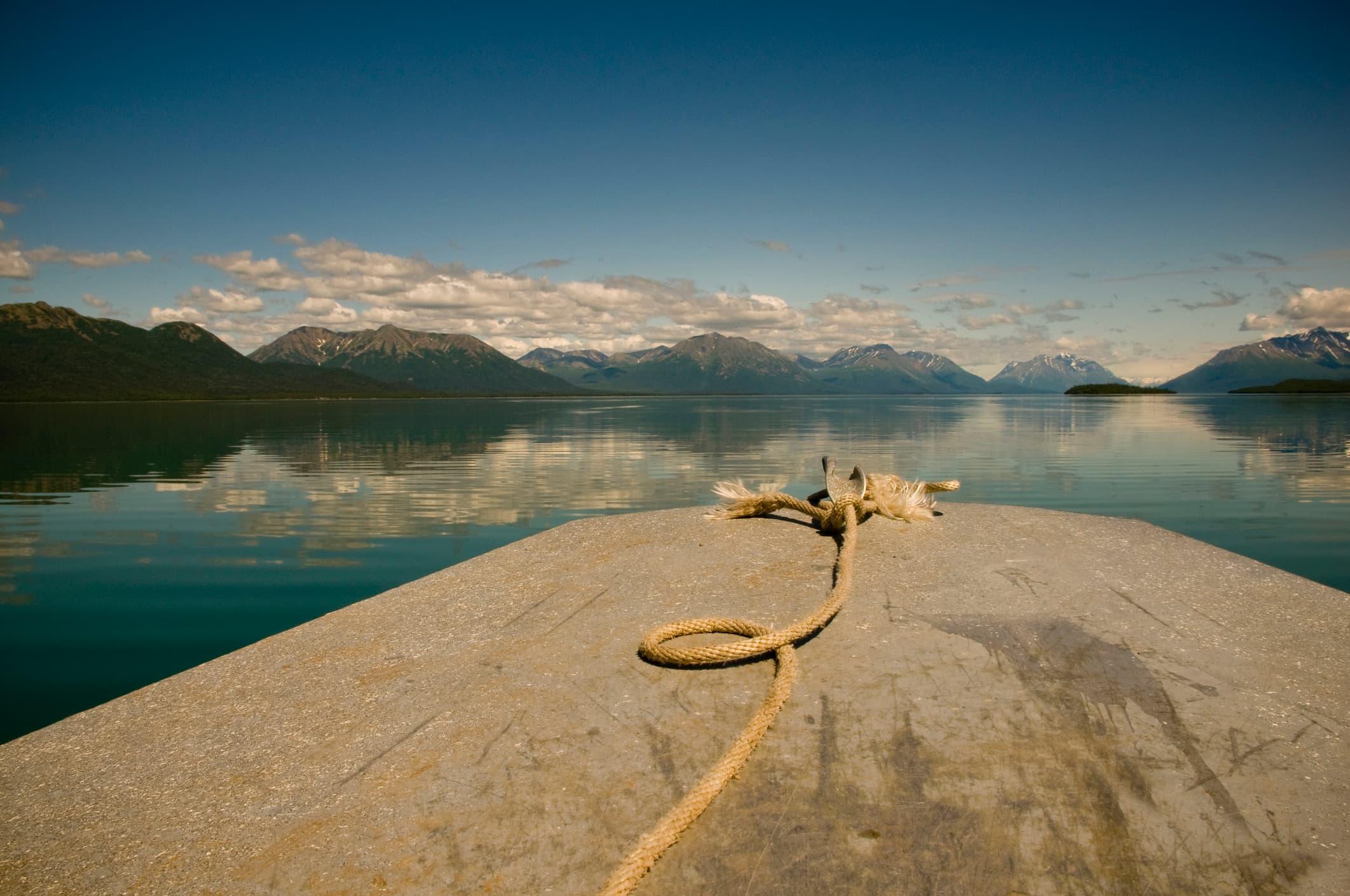 Motor Boat on Lake Clark