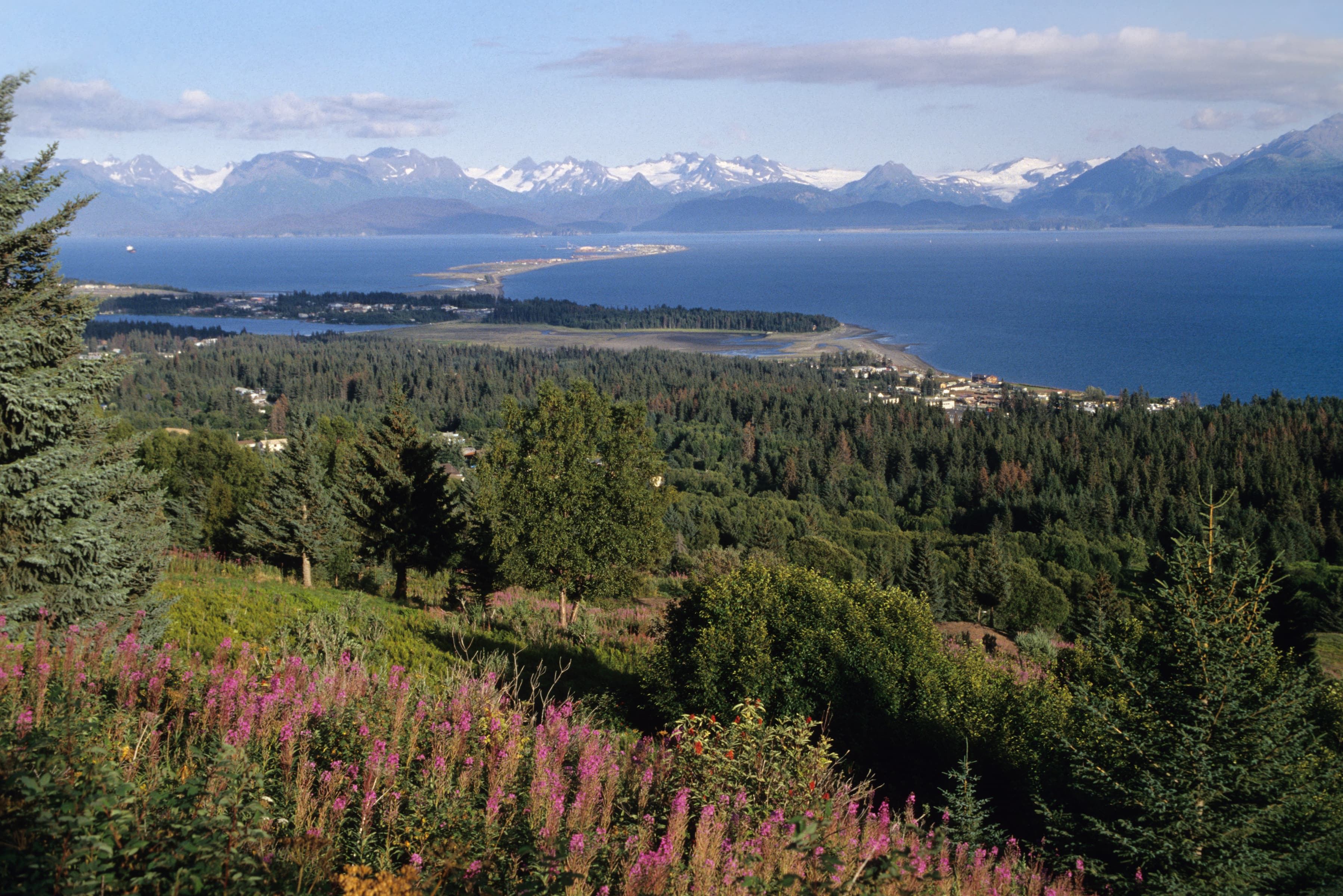 Homer Spit and Kenai Mountains
