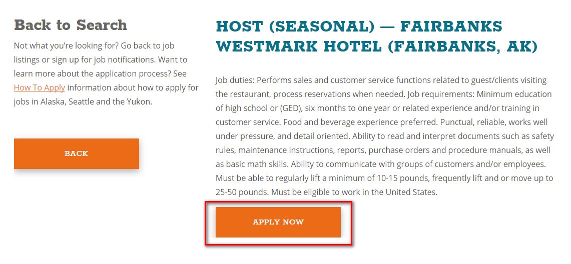 Apply instructions alaska tour jobs for Portent jobs