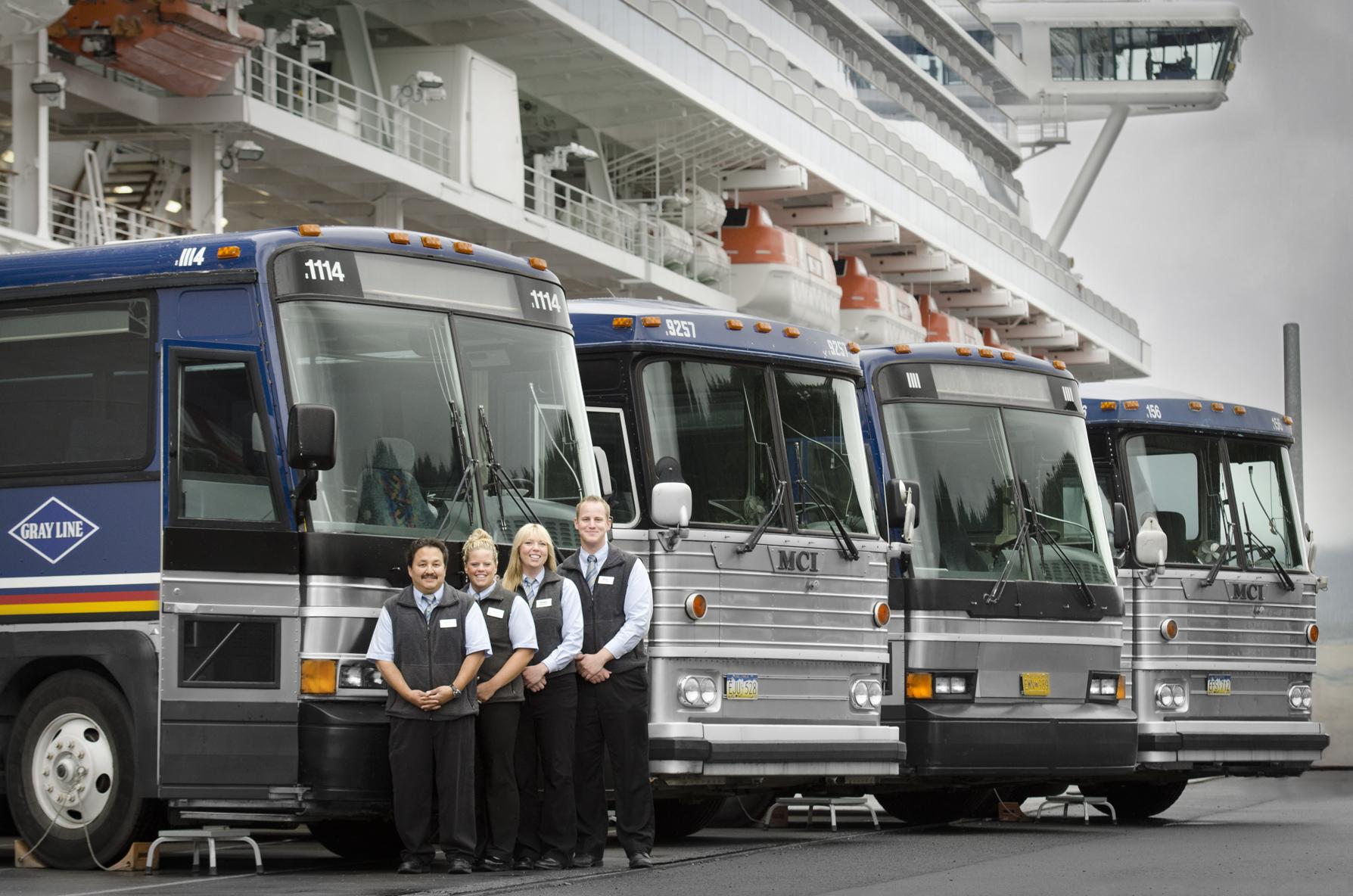 Motorcoach tour drivers in Alaska
