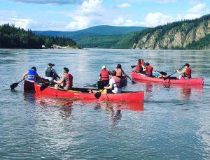 People in canoeing in Alaska